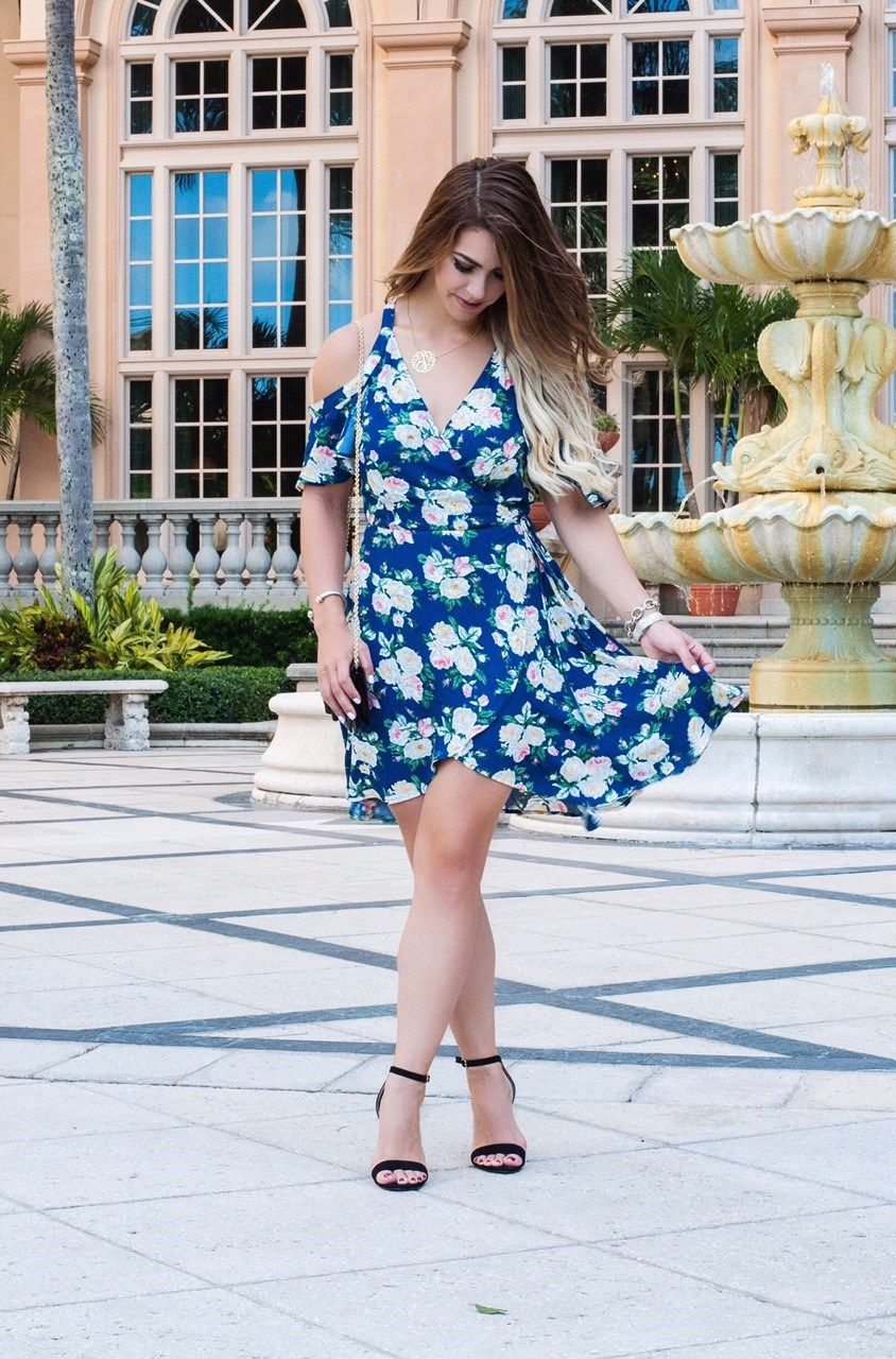 Bridal Luncheon In Naples Fl What To Wear A Dress Blue Cold Shoulder