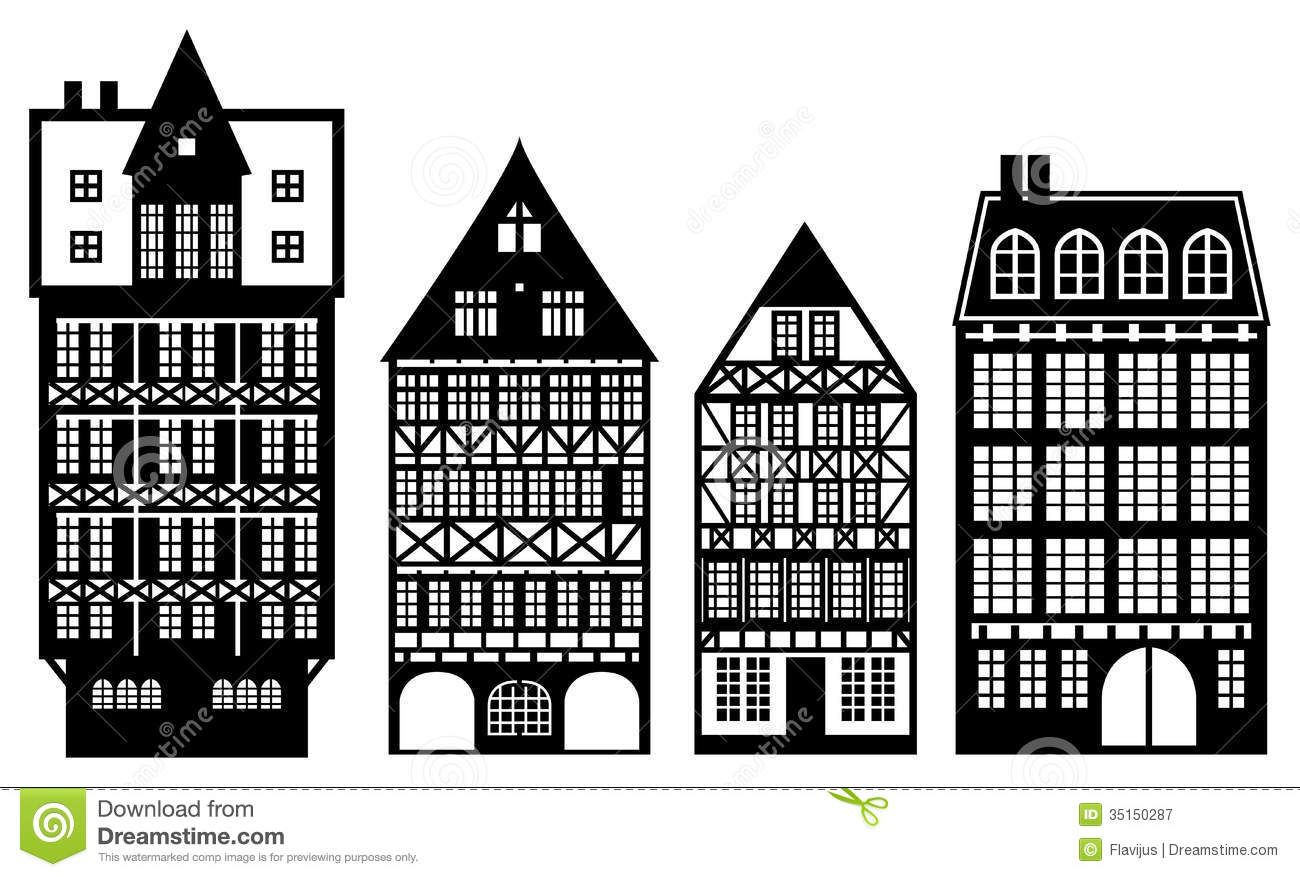 Traditional German Houses Old German Houses Royalty Free