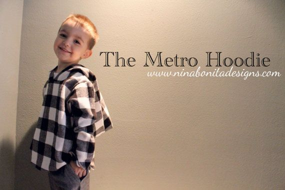 The Metro Hoodie and Dress, PDF Pattern, Sizes 1T-5T