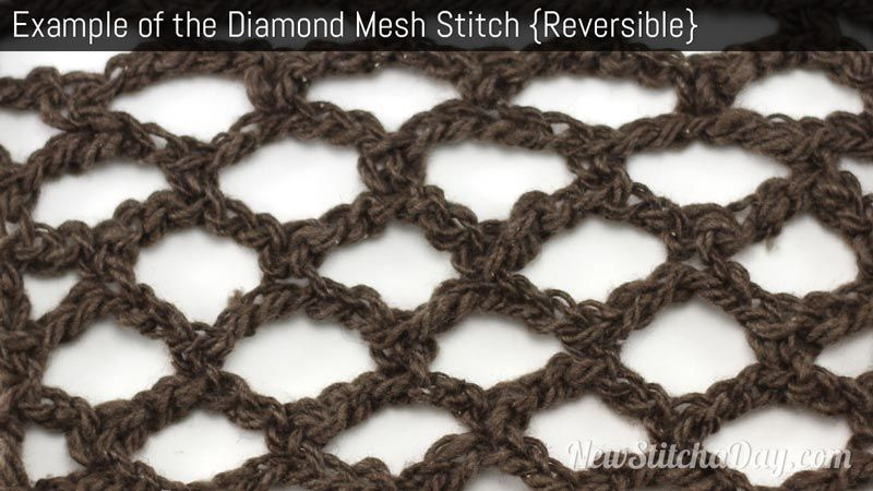 Easy- How to crochet the Diamond Mesh Stitch | Crochet Free Patterns ...