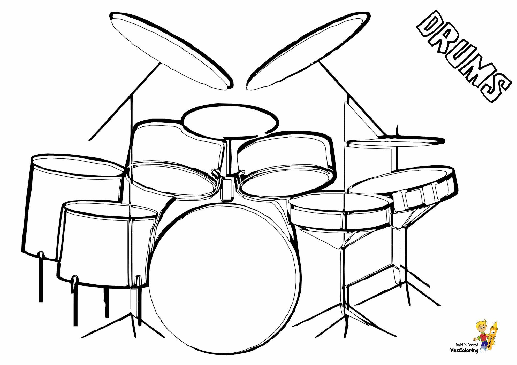 Majestic Musical Drums Coloring With Images Drums Musicals