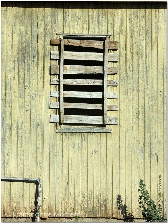 Yellow Old Window | Original Fine Art Photography | Blocked Windows ...