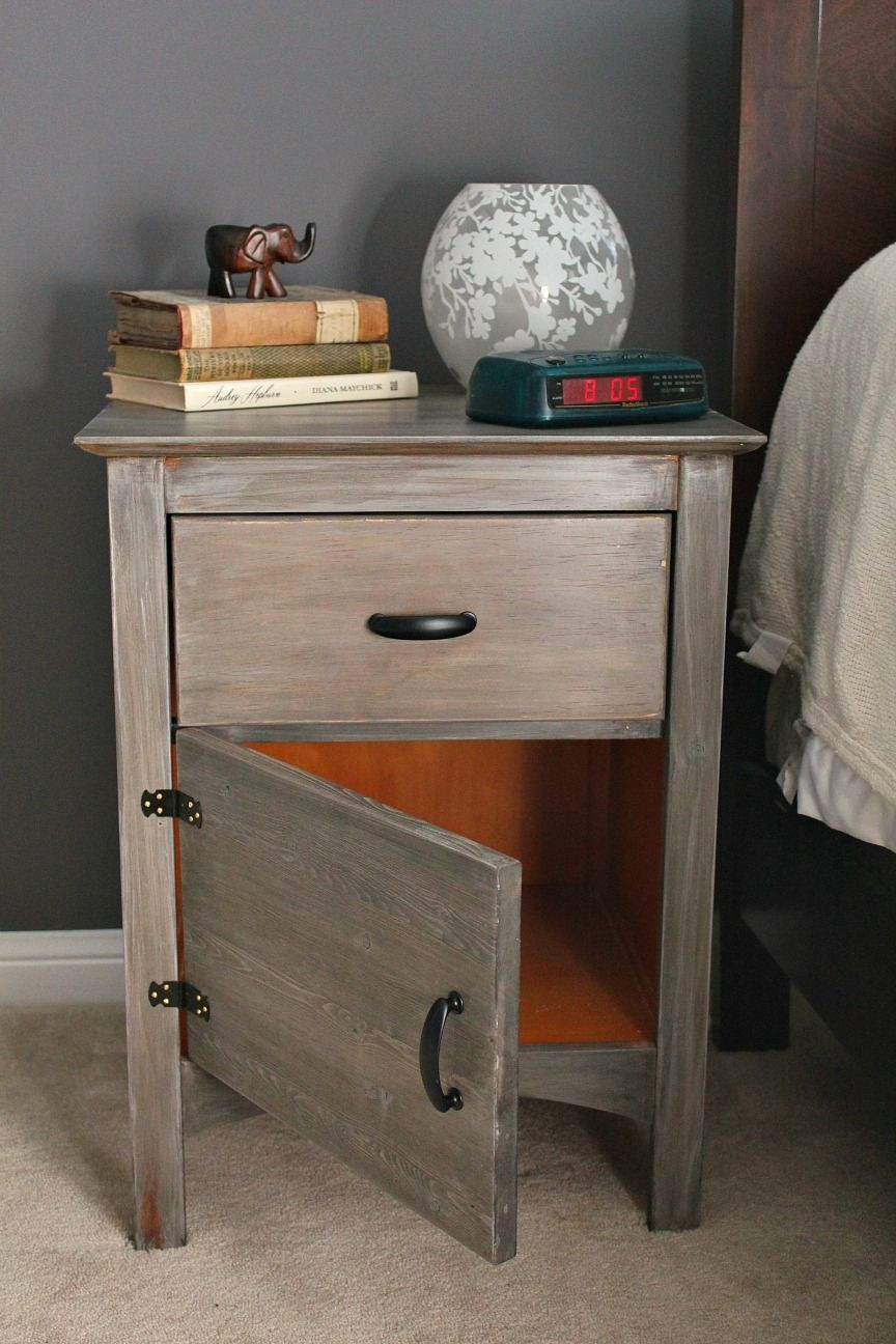 Turtles and Tails: Pinterest Challenge: Cerusing Nightstands (Hunh?)