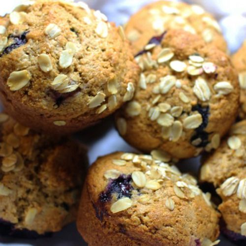 Whole Wheat Blueberry Muffins-Get your hourly source of sweet...