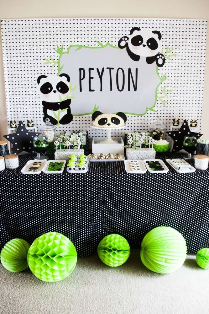 Don't miss this fun Panda-monium Party! The desserts are so cute!! See more party ideas and share yours at CatchMyParty.com
