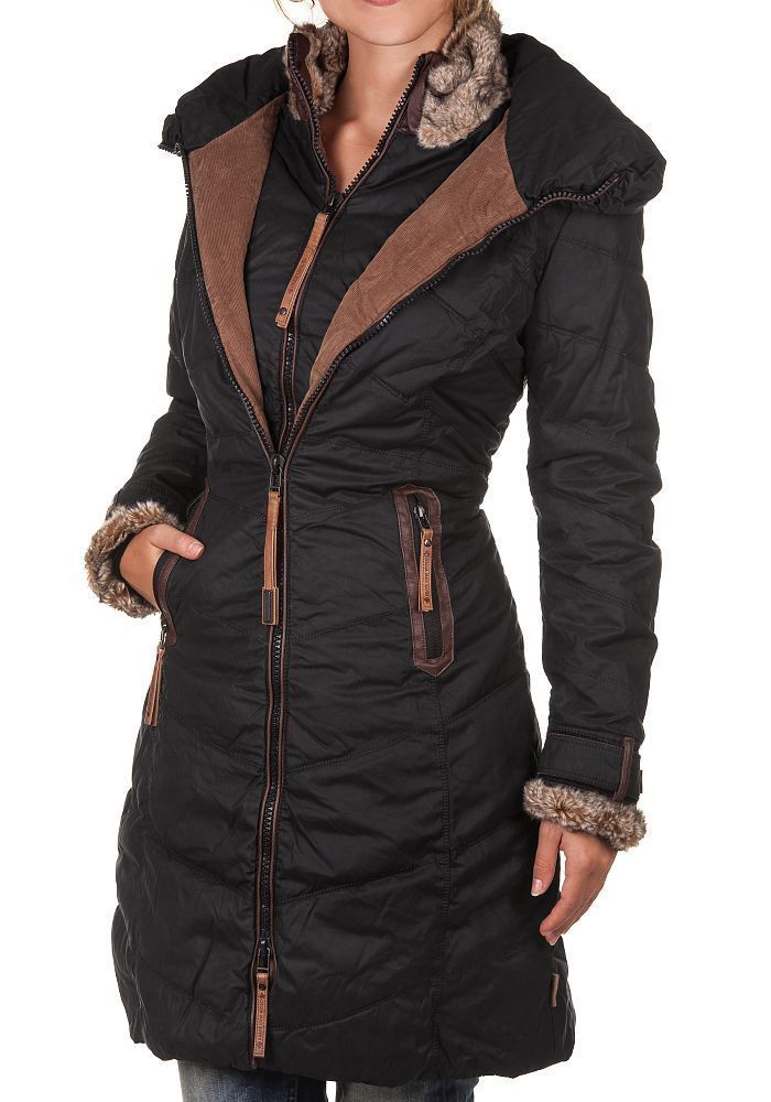 details zu naketano damen winterparka entertain my pain. Black Bedroom Furniture Sets. Home Design Ideas