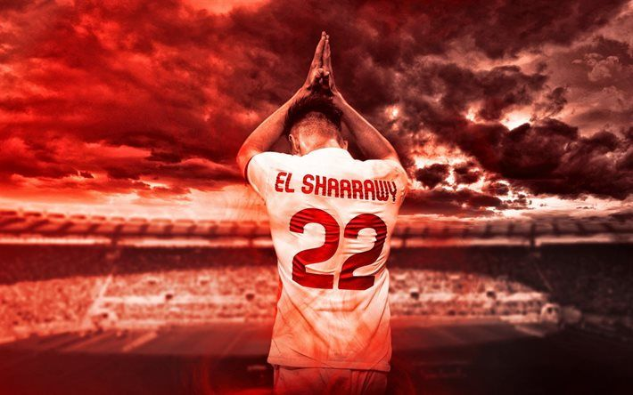 Lataa kuva Stephan El Shaarawy, AS Roma, Italian jalkapalloilija, jalkapallo, Serie, Italia