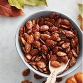 Cinnamon-Maple Roasted Pumpkin Seeds ,  #CinnamonMaple #pumpkin #pumpkinseedsvegan #roasted #... #roastedpumpkinseeds