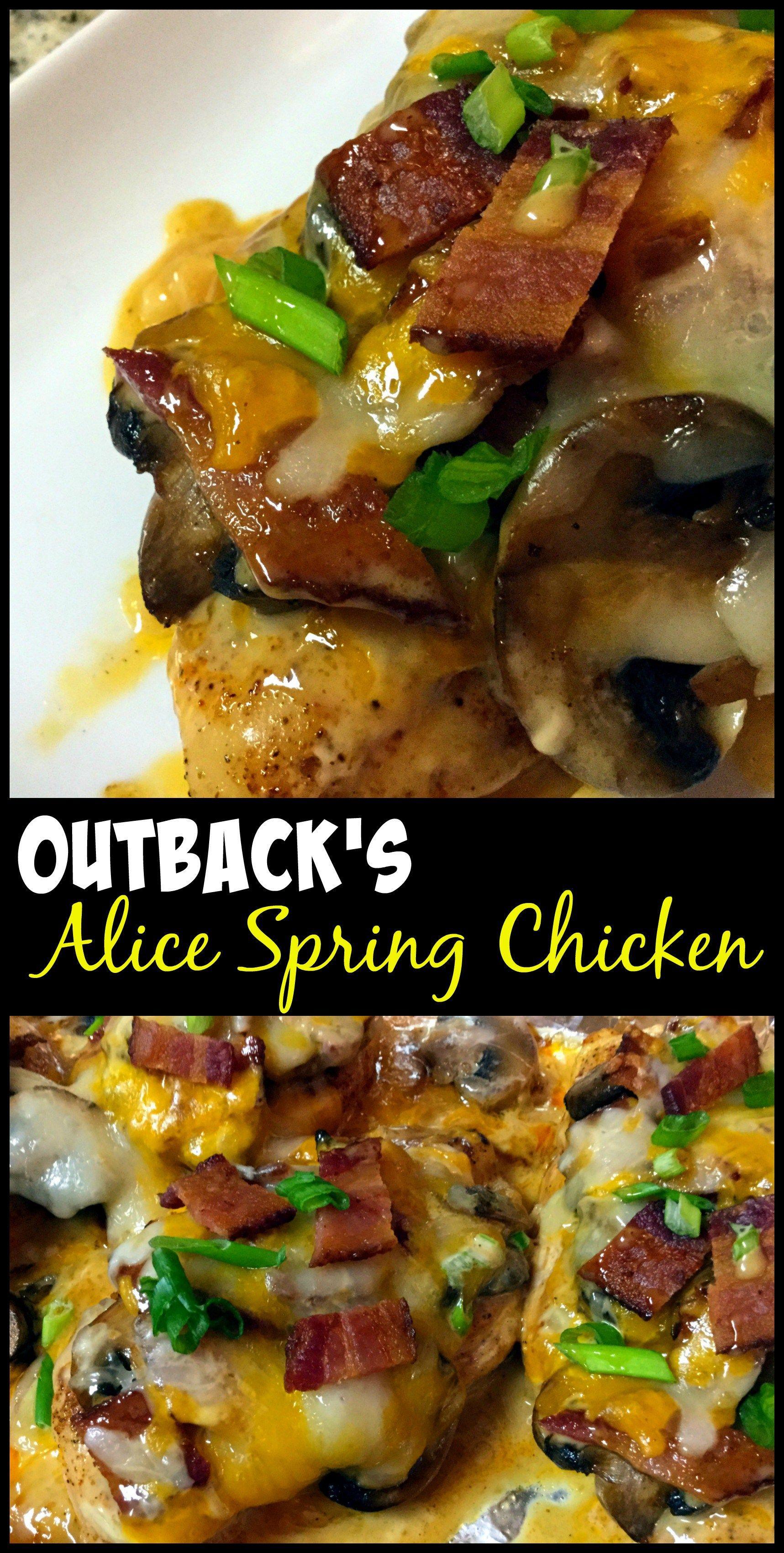 Outback Steakhouse Copycat Alice Spring S Chicken Alice Springs Chicken Chicken Recipes