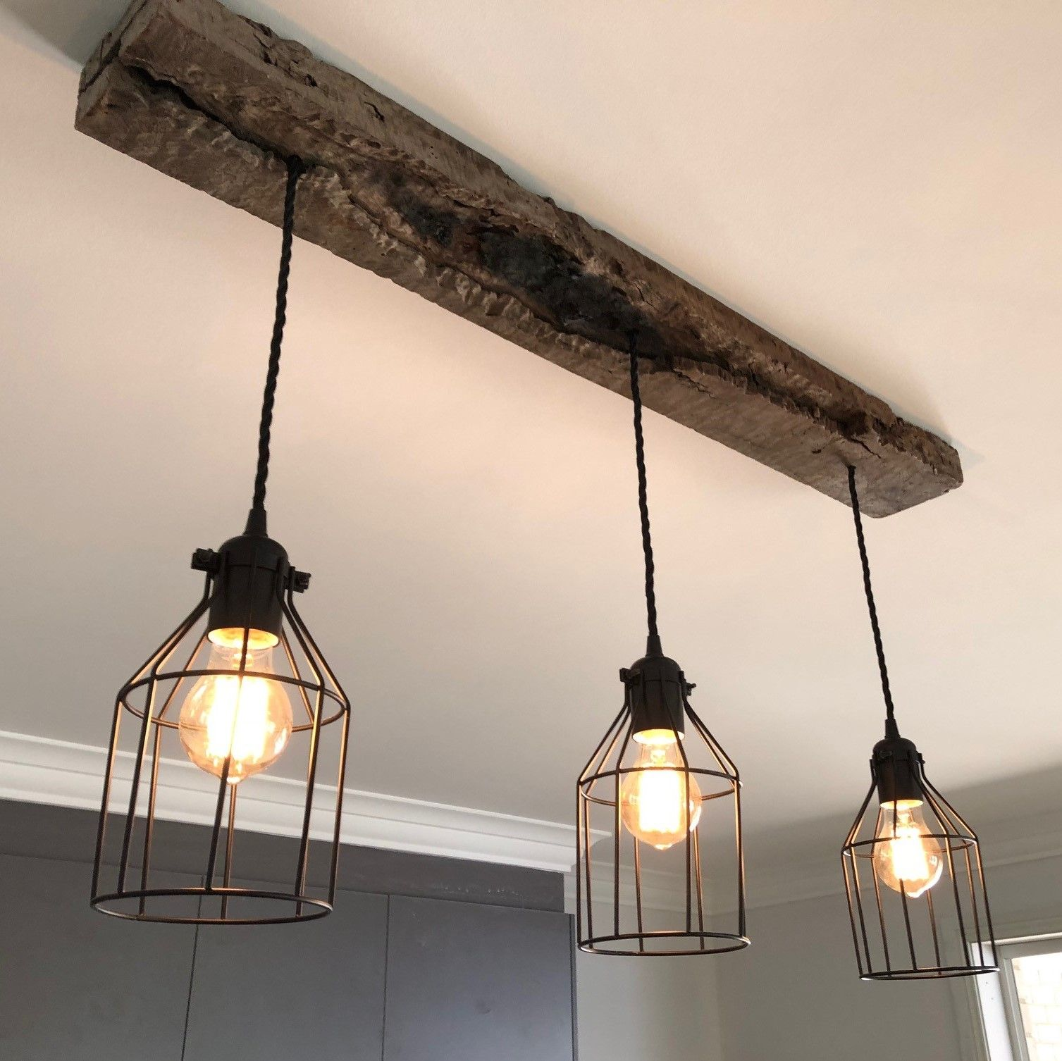 Farmhouse Style Reclaimed Timber Chandelier Rustic
