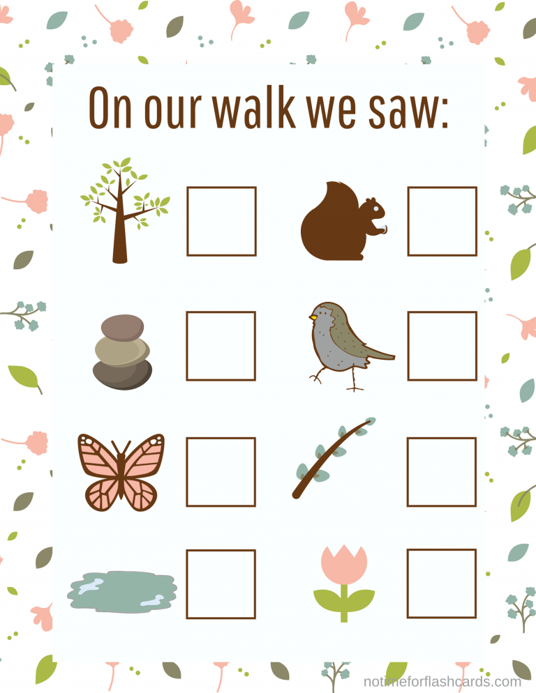 nature walk count gross motor math activity and free printable outside fun. Black Bedroom Furniture Sets. Home Design Ideas