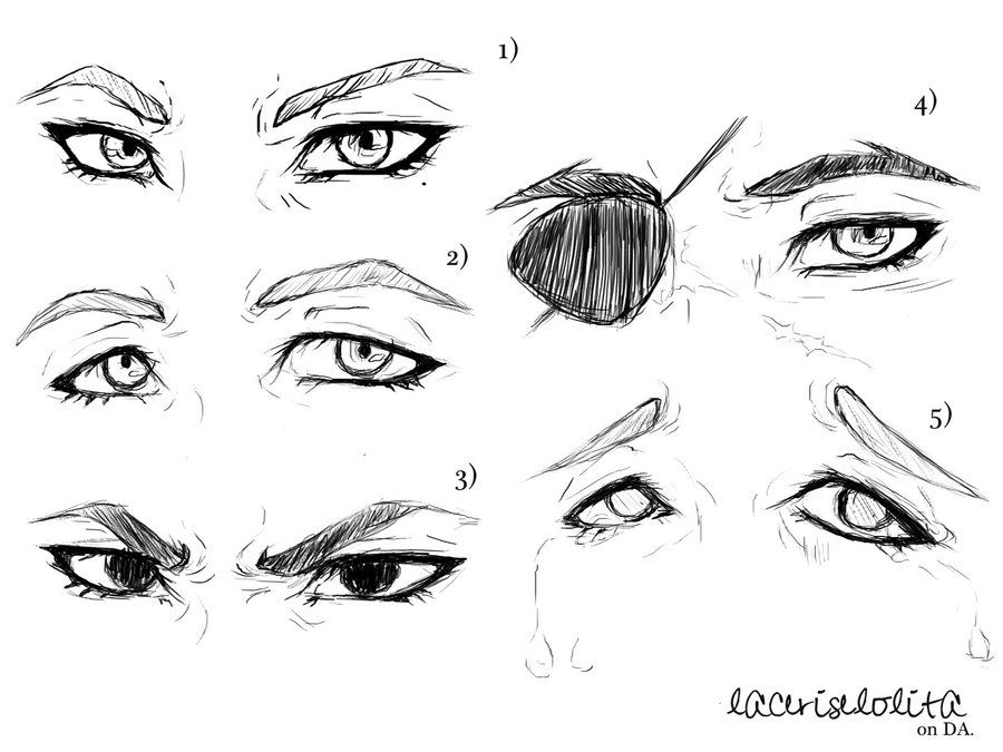 Rough male eye sketches