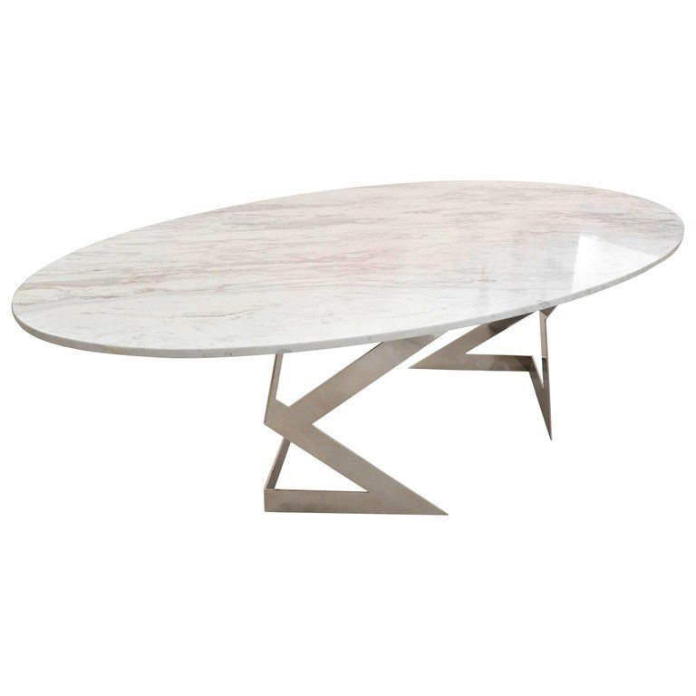 Ivory Diamond 10 Seater Oval Dining Table In Greek White Marble See More Antique And Mod Oval Table Dining 10 Seater Dining Table Vintage Dining Room Table
