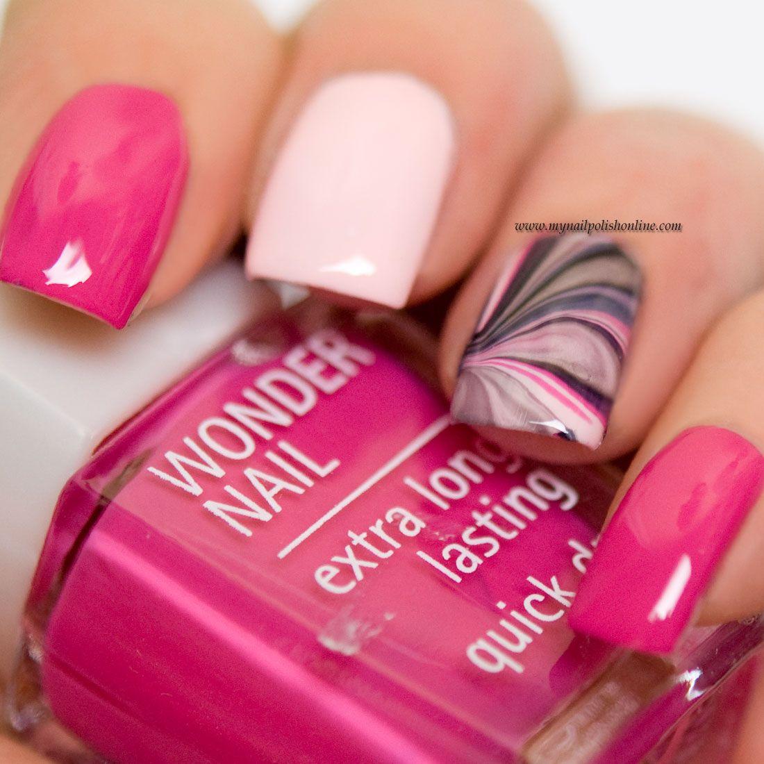 Nail Art Watermarbling My Nail Polish Online Nail Polish