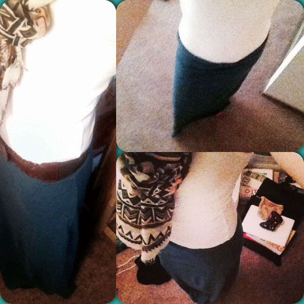 #maxi #dress #oldnightdress + #whitetank #DIY