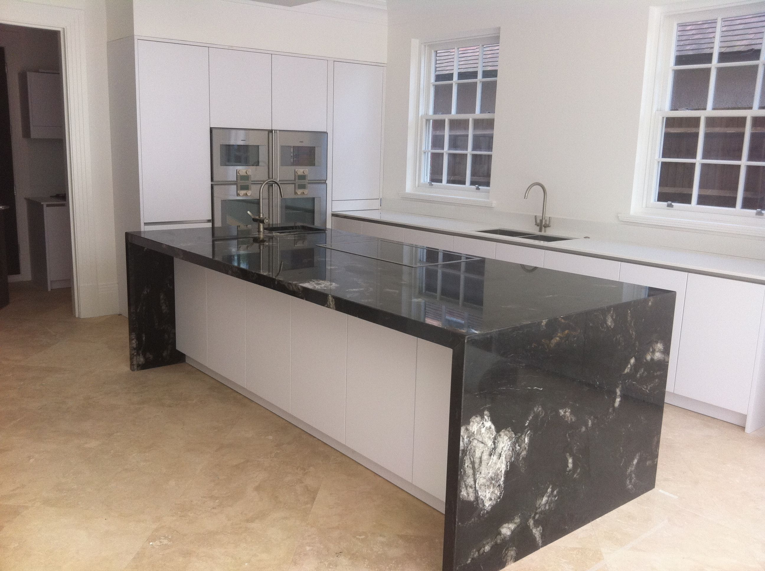 Cosmic Black Granite Modern Kitchen Granite Granite Kitchen