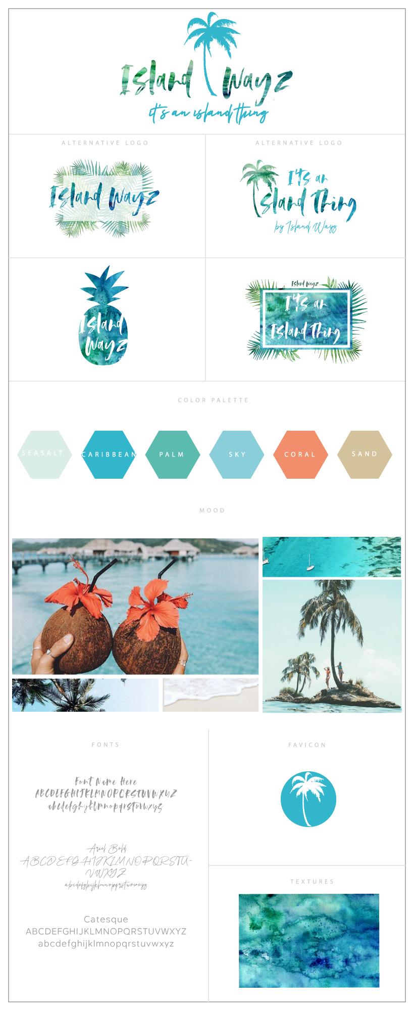 Branding board design inspiration tropical logo palmtree