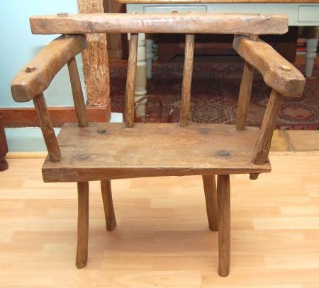 19th C Mix Wood Windsor Chair Rustic Apartment Rustic Chair