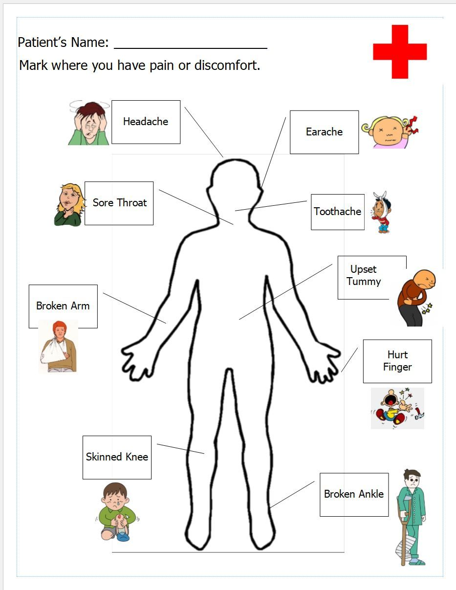 Free Printable Worksheet For Doctor S Office Pretend Play Dramatic Play Printables Human Body Anatomy Dramatic Play Preschool [ 1207 x 933 Pixel ]