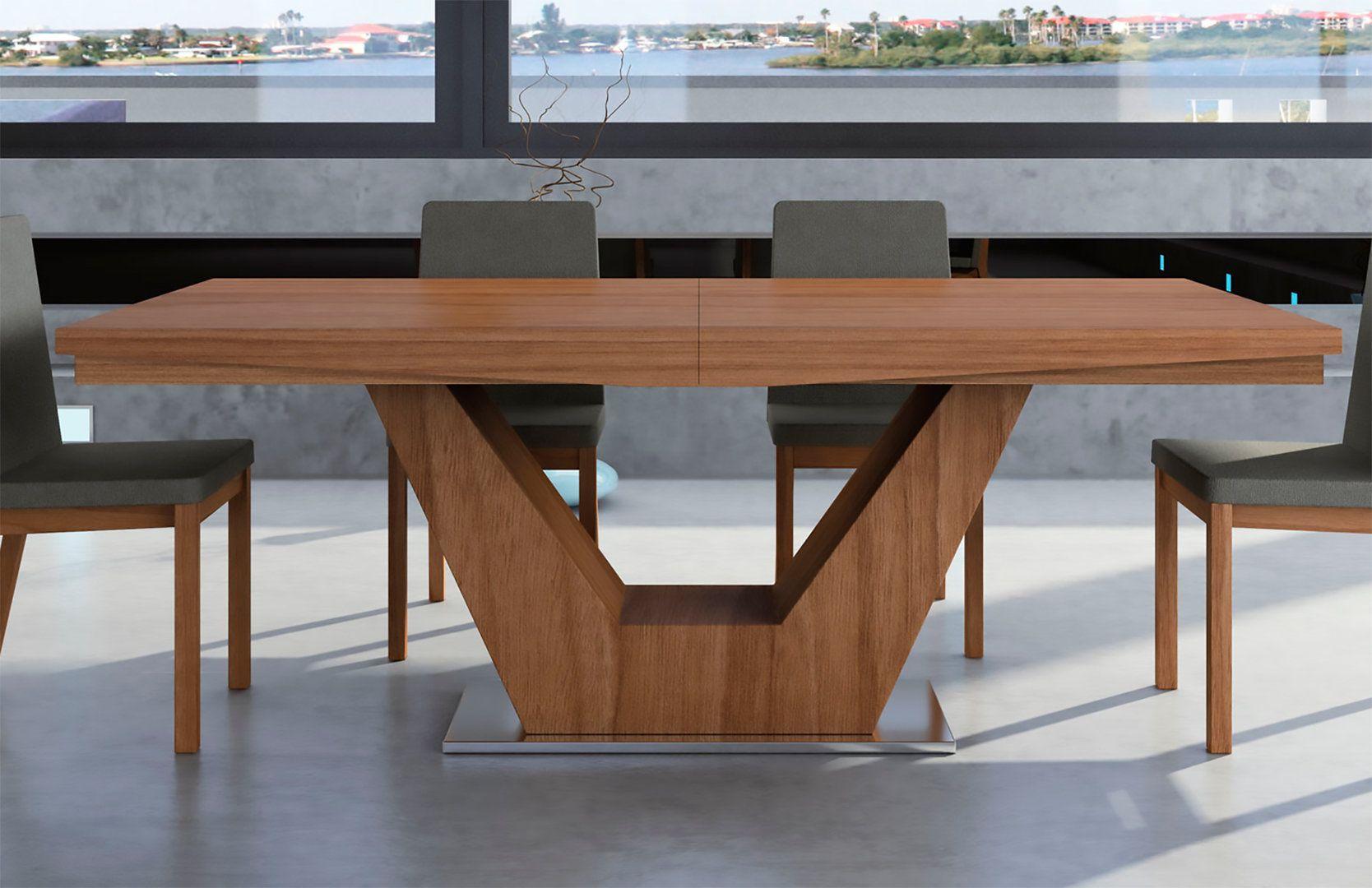 Mesa de comedor extensible moderna verona for Mesas de comedor extensibles de madera