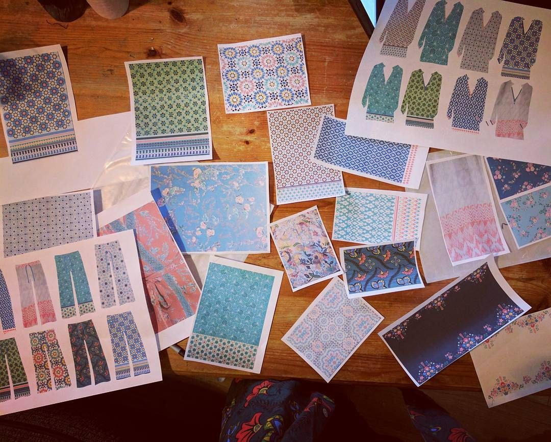 Designing the next collection  and my own #prints - decisions decisions!