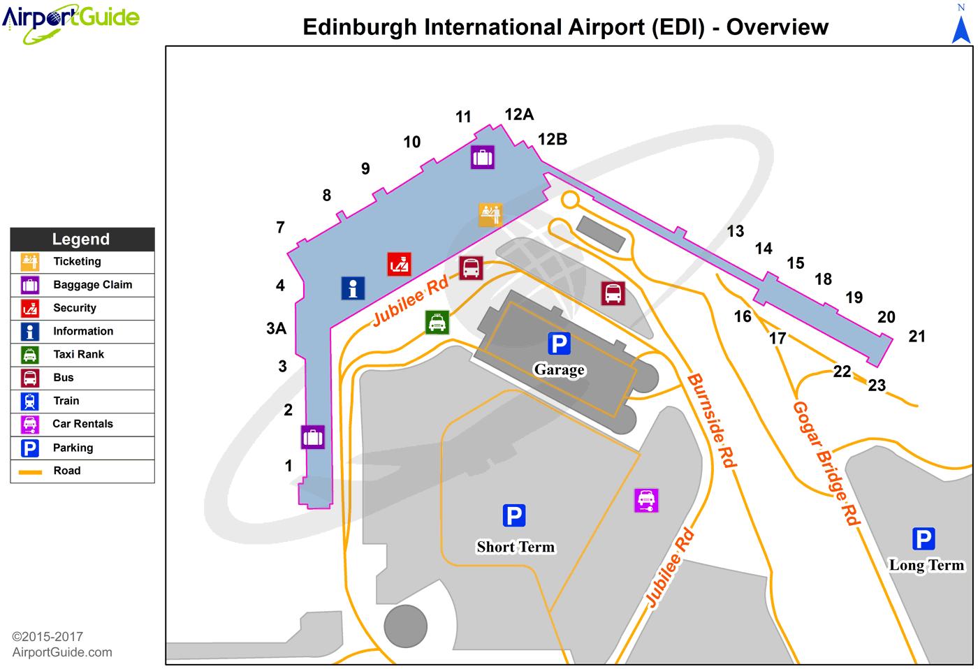 Edinburgh Edinburgh (EDI) Airport Terminal Map