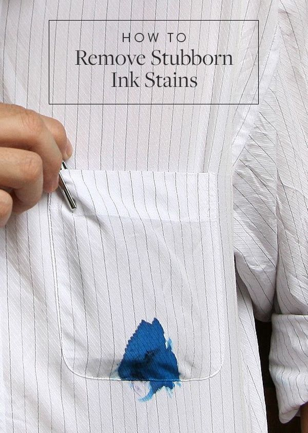 The Easiest Way to Get Rid of Ink Stains. Here's what to do the next time you're faced with a stubborn ink stain.