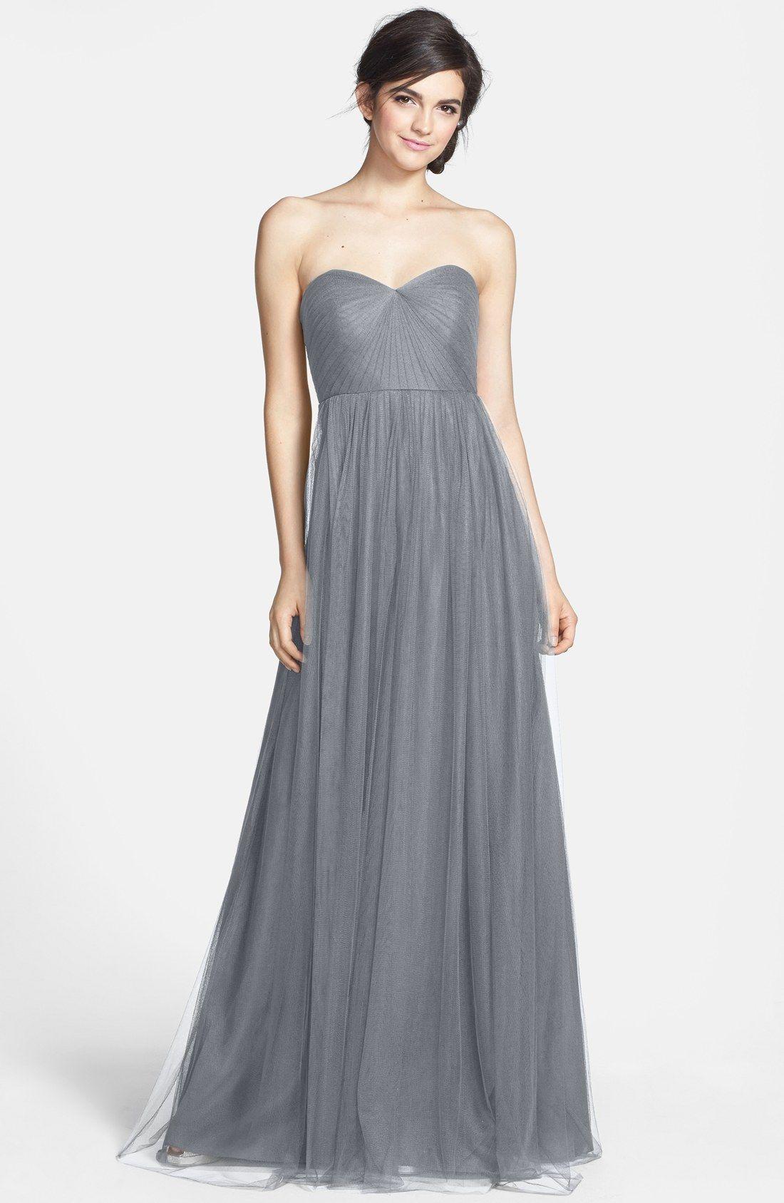 1f31f134a9 Jenny Yoo 'Annabelle' Convertible Tulle Column Dress   Bridesmaid ...
