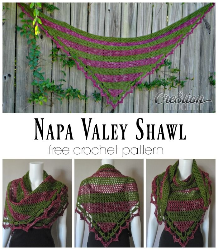 Napa Valley Shawl a free crochet shawl pattern | Chal, capas y ...
