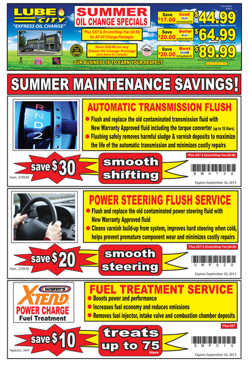 Alberta Oil Change Coupons ✿ ✿ | Oil change coupons | Oil