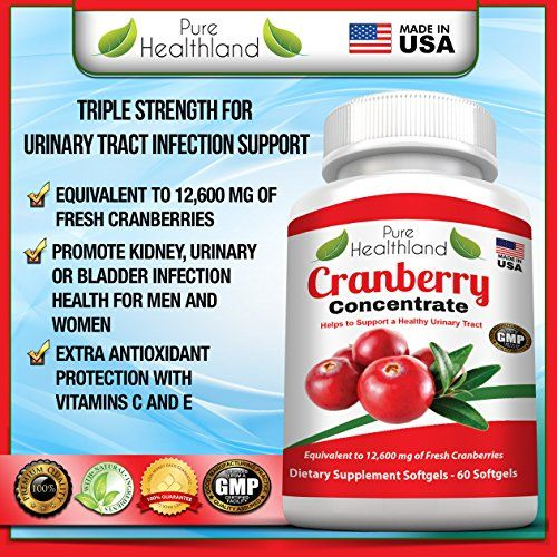 Cranberry Concentrate Supplement Pills Triple Strength for ...