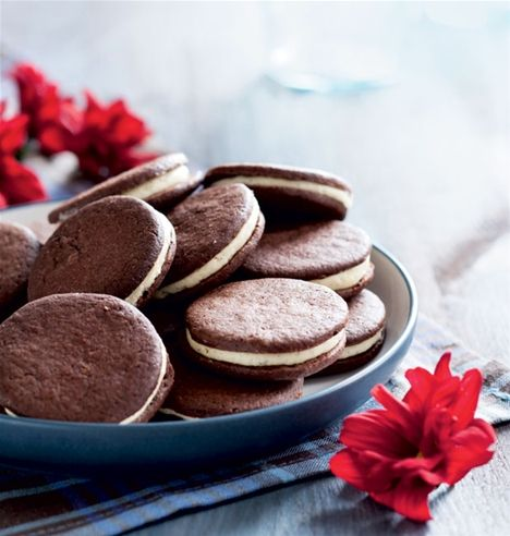 Chokoladekiks med vaniljecreme