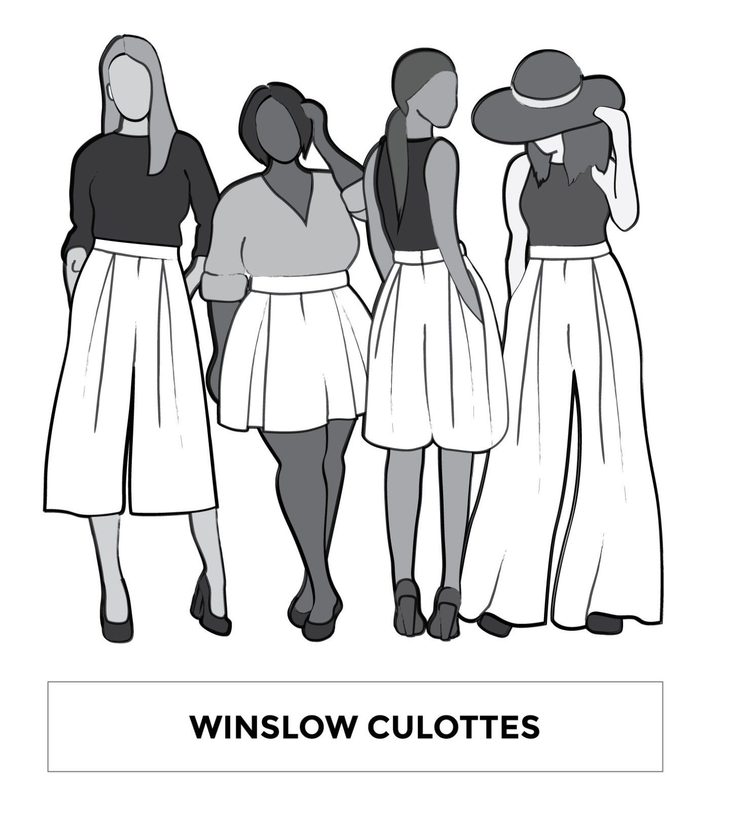 Winslow Culottes Sewing Pattern by Helen\'s Closet | Bottoms ...