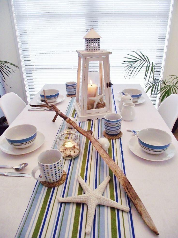 Arredare una cucina al mare - Tavola in stile marinaro | Beach ...