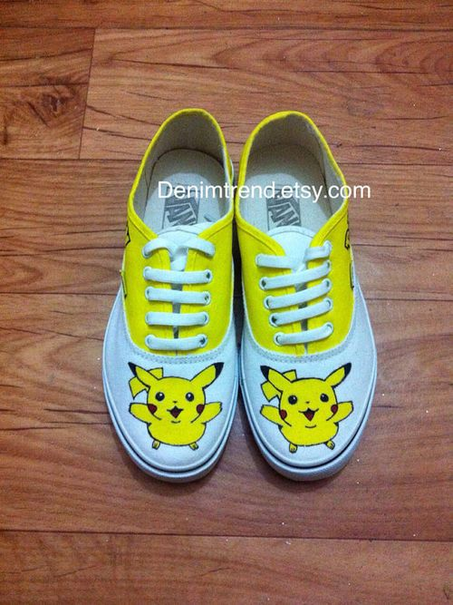 ee2e8b8d049a69 Pokemon Pikachu Vans Shoes