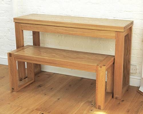 Awesome Oak Console Table Extends To Dining Table Futon Company Short Links Chair Design For Home Short Linksinfo