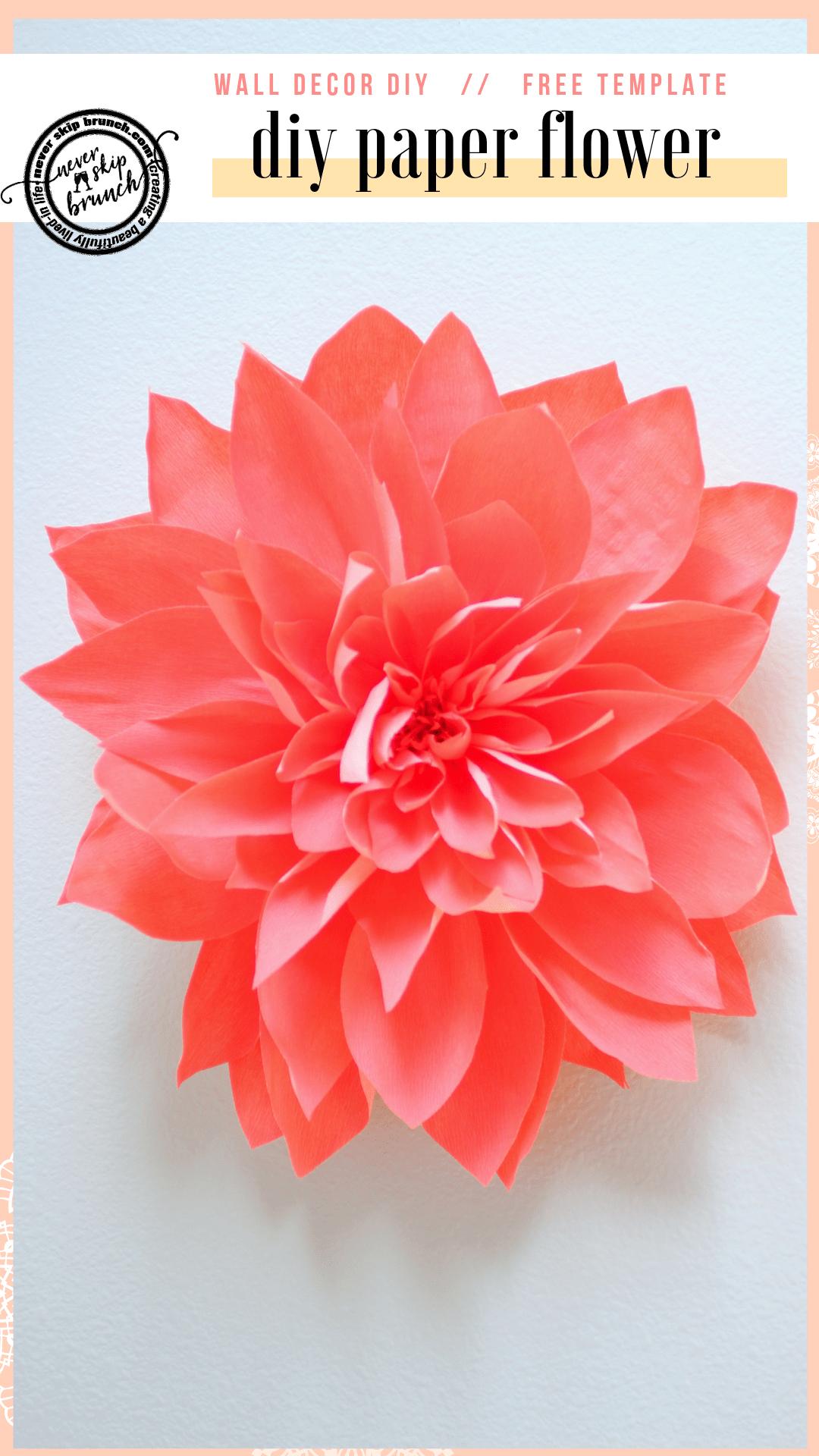 Diy Wall Art Giant Paper Flower Tutorial Paper Flowers Diy
