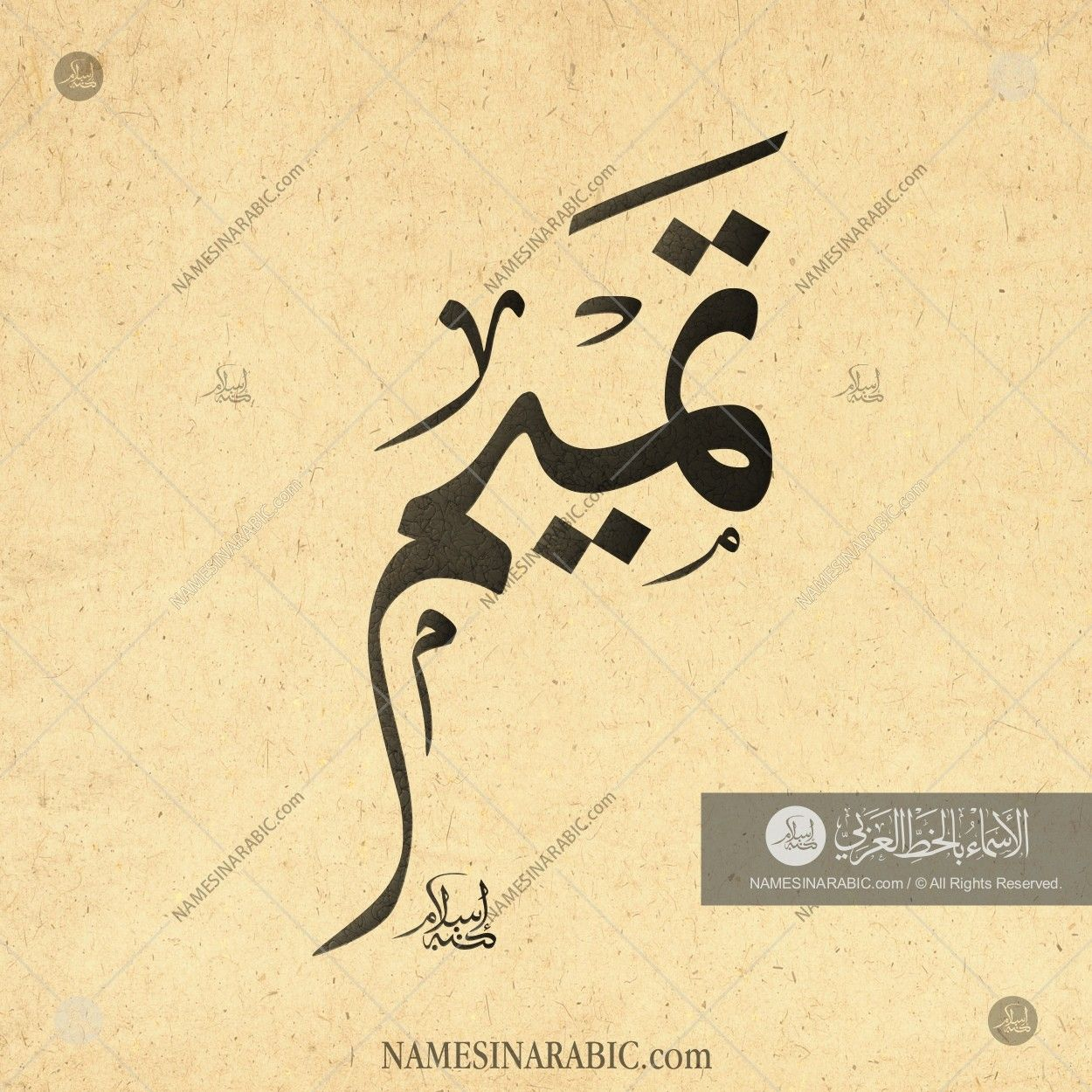 Tamim تميم Names In Arabic Calligraphy Name 3119 Calligraphy Name Calligraphy Arabic Calligraphy Fonts