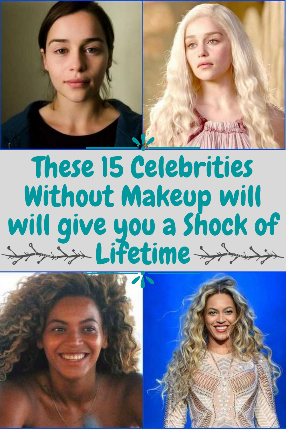 Photo of These 15 Celebrities Without Makeup will will give you a Shock of Lifetime