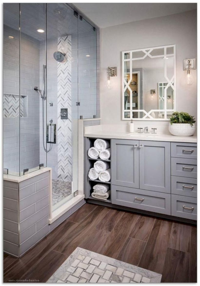 Nice 45 Urban Farmhouse Master Bathroom Remodel