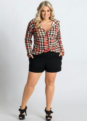 8a3aeaecc0 Camisa Xadrez Plus Size - Marguerite