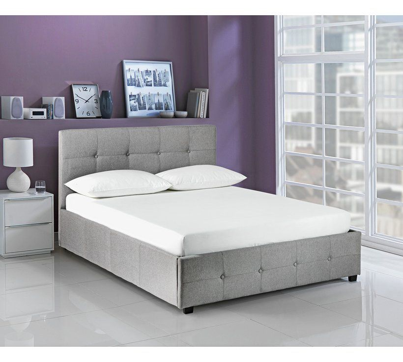 Remarkable Buy Hygena Eros Ottoman Double Bed Frame Grey Bed Frames Gmtry Best Dining Table And Chair Ideas Images Gmtryco