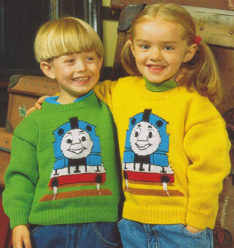 Pdf Thomas The Tank Engine Sweater 20 28 Baby Childrens Double