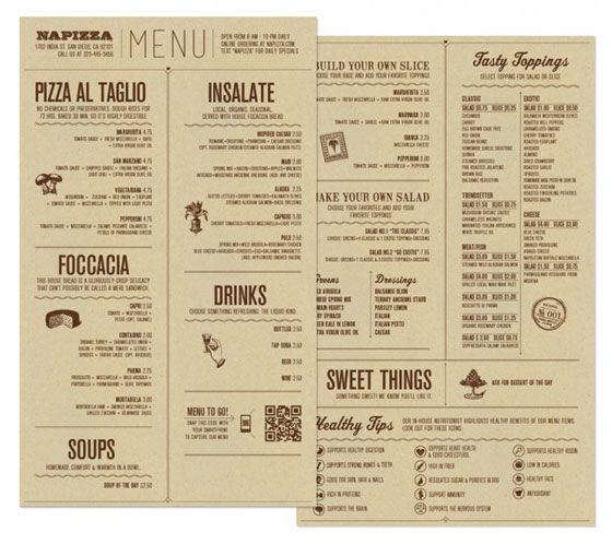 25 inspiring restaurant menu designs メニューデザイン pinterest