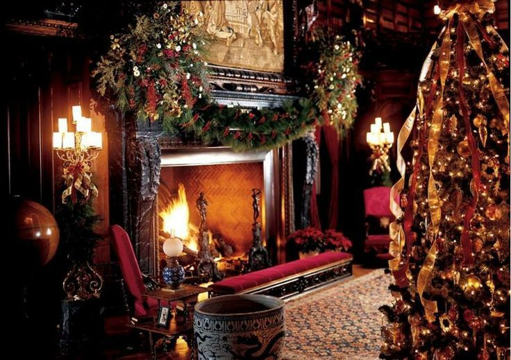 Mr & MRS GRIGORYAN sitting by the fireplace listening to Christmas music