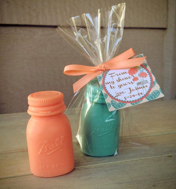 25 MASON JAR SOAPS {Favors}