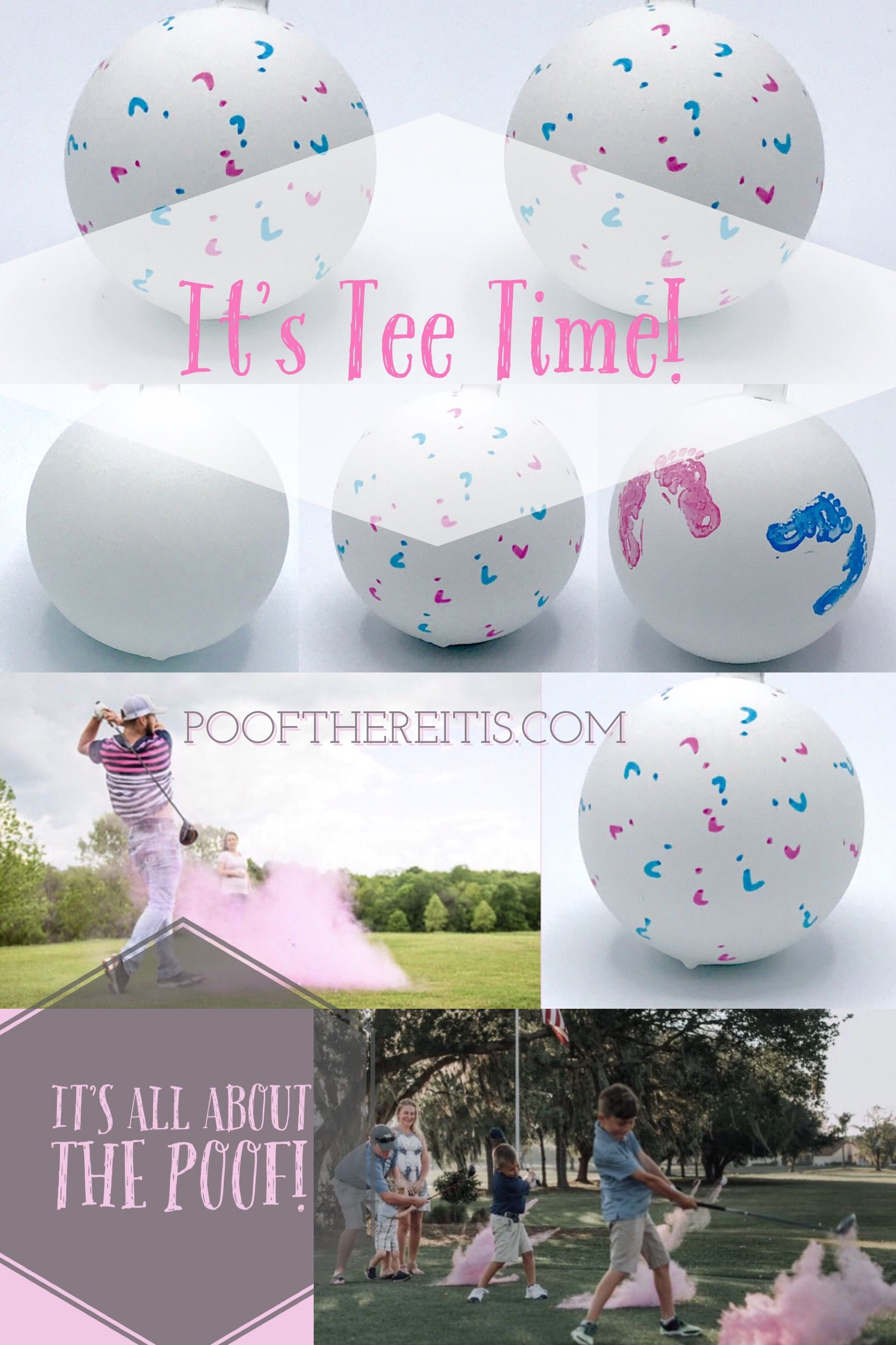 Golf Ball Gender Reveal Use what the Pros use cause it is tee time