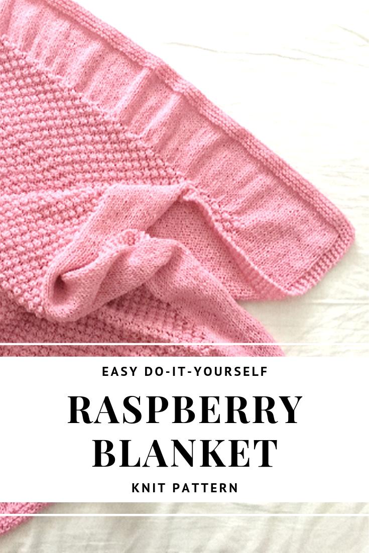Lovely Knitted Baby Blanket FREE Pattern in 2020 | Blanket ...