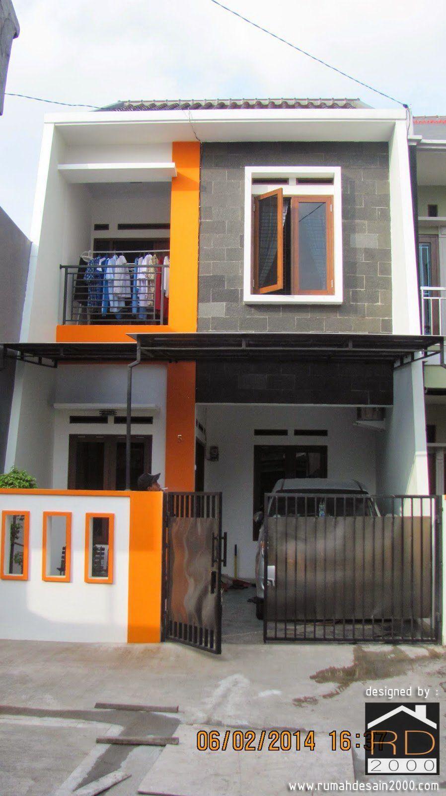 Rumah 2 Lantai Ini Dibangun Diatas Tanah Dengan Ukuran 5 X 10