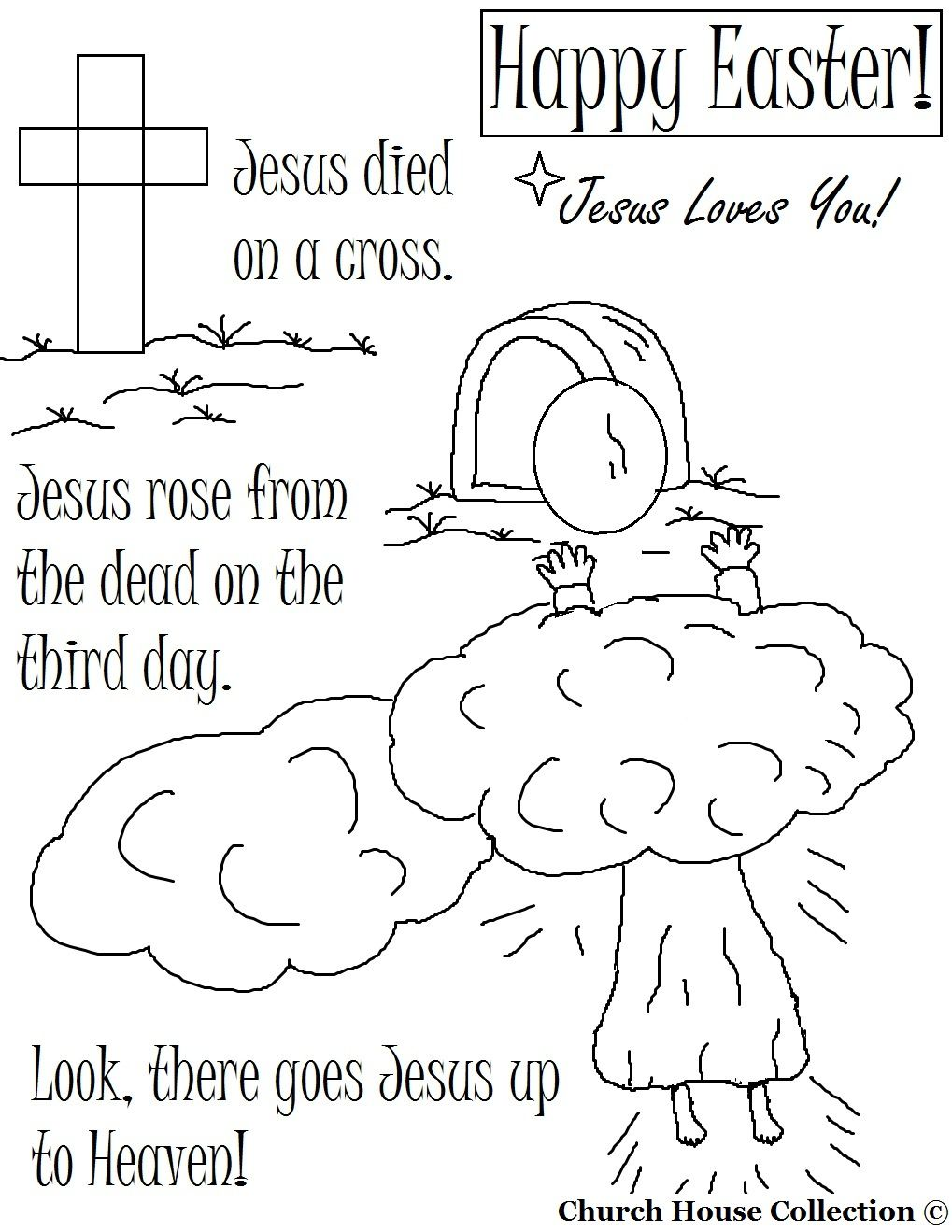Lujoso Coloring Pages Resurrection Jesucristo Friso - Enmarcado Para ...